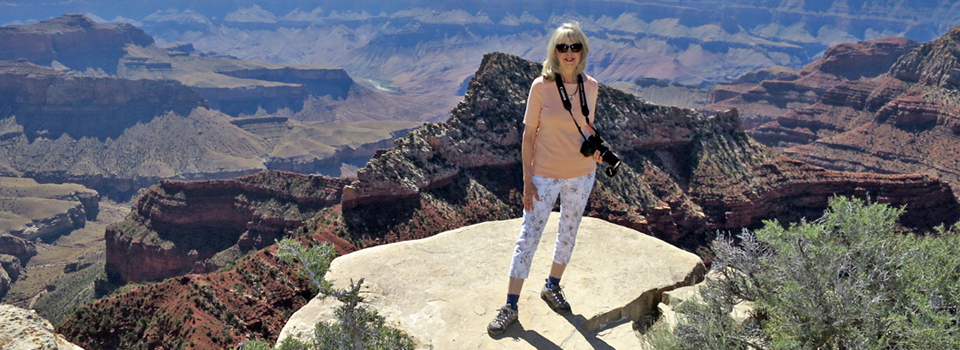 Dottie at the Grand Canyon